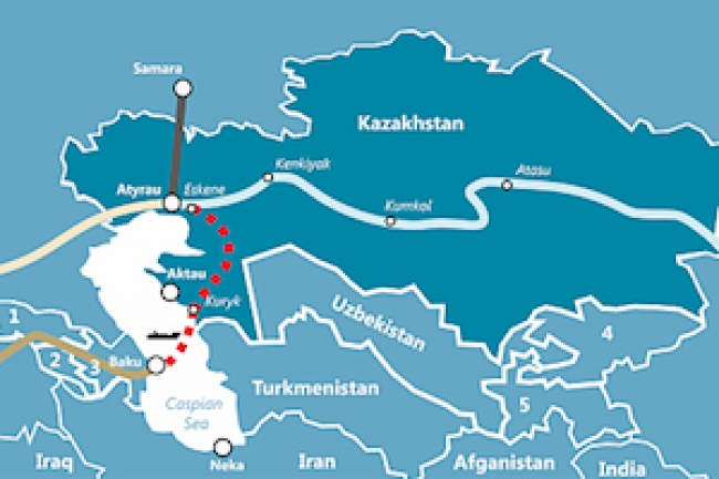 Kazakhstan and Azerbaijan plan an undersea trans-Caspian oil pipeline