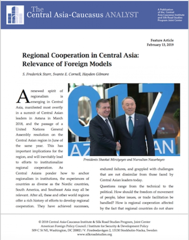 Regional Cooperation in Central Asia: Relevance of Foreign Models
