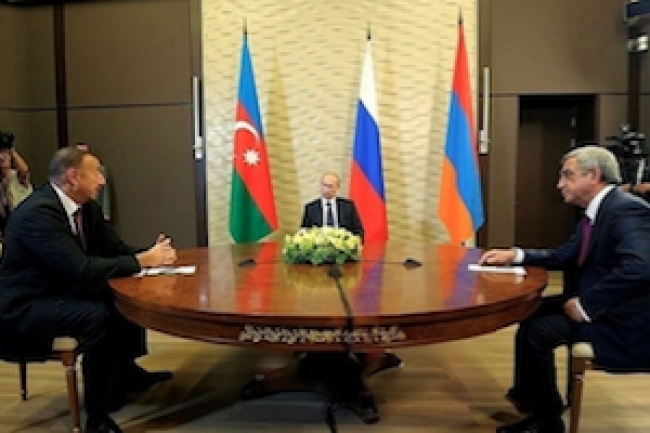 Presidents of Armenia, Russia and Azerbaijan meet in St. Petersburg