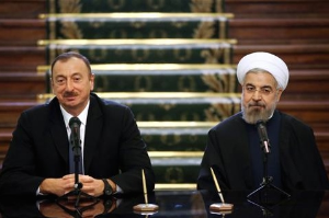 Ilham Aliyev and Hassan Rouhani